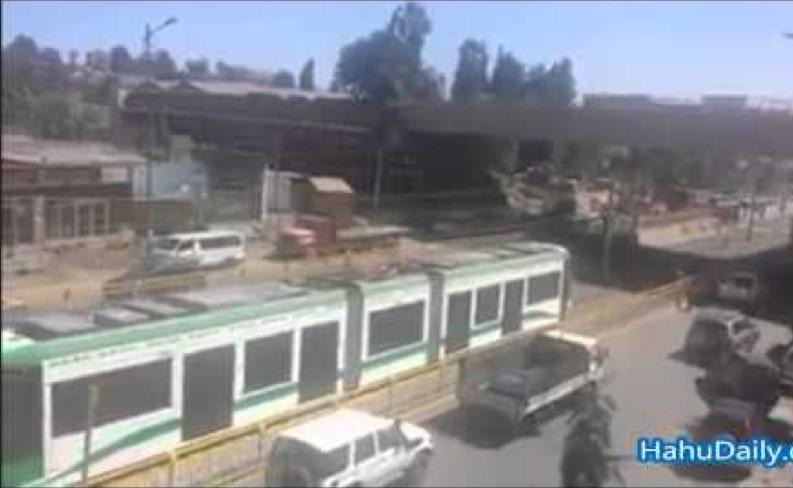 Ethiopian News - Addis Ababa Light Train Electro Mechanical Test Drive