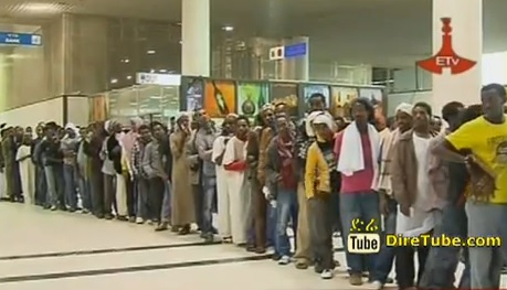 Ethiopian News - Nov 16, 2013 - 928 Ethiopians from Saudi arrived in Addis