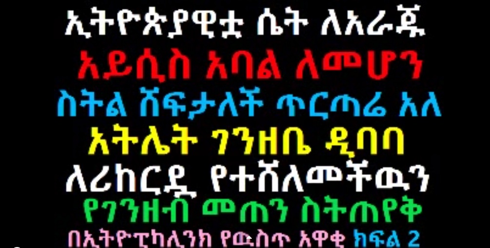 EthiopikaLink - The Latest EthiopikaLink Insider News - Feb 22, 2014 - Part 2