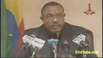 Ethiopian News - HaileMariam Desalegn Gave Press Conference after taking Power