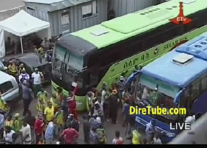 Ethiopian Sport - The Fun at The Stadium and The Team Celebrating in The Bus