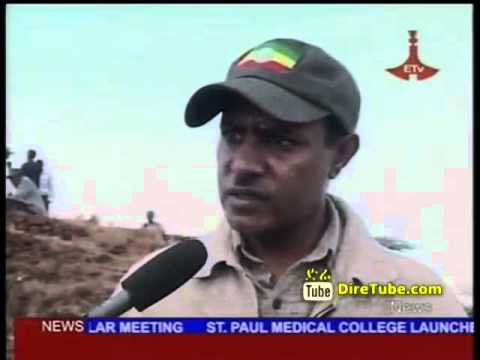 News in English - Natural Resource Conservation Works in Ethiopia North Shoa Zone