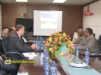 News in English - A US Delegation Visiting to Ethiopia on Education