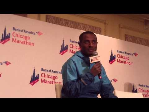 Lets Run - Kenenisa Bekele After the 2014 Bank of America Chicago Marathon