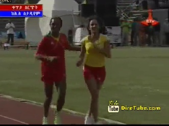 ETV Special - Ethiopian Athletes with Their Family 400 meter Running Race [Must See]