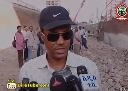 Ethiopian News - City Mayor Visit the road project form Mesqel Square to Bole International Airport