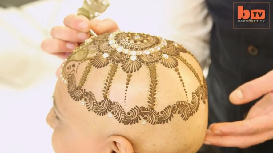 Amazing Video - Bald Breast Cancer Battler Given Stunning Body Art Crown