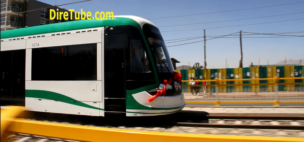 DireTube Exclusive - Addis Ababa City Light Train Test Ride - Feb 1, 2015