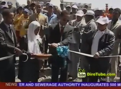 News in English - Addis Ababa City Inaugurated Deep Well Water Supply Water Project