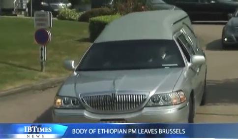 IBTimesUK - Body of Ethiopian PM Meles Zenawi leaving Brussels