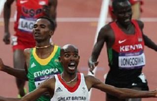 London 2012 - Dejen Gebremeskel Takes Silver in Men's 5000M Final
